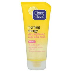 Clean & Clear Morning Energy Skin Brightening Daily Facial Scrub Oil Free 150ml