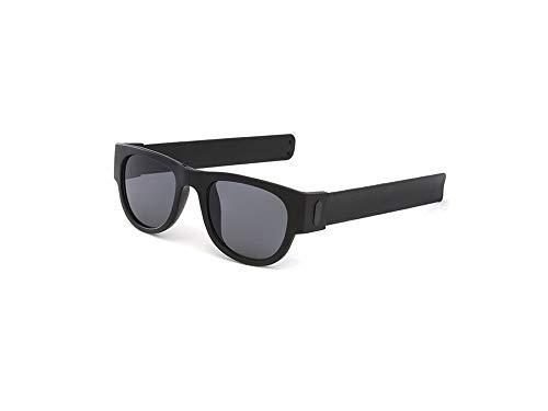 GPXYMX Handgelenk Faltbare Sonnenbrille, Polarisierte Sonnenbrille UV400, Umlaufende Sportsonnenbrille, Tragbare, Lässige Armbandbrille Für Erwachsene Und Kinder