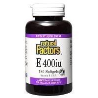 Natural Factors E -- 400 IU - 180 Softgels by Natural Factors