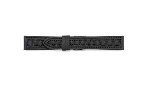 Synthetisches Armband passend für Sector Expander 20-18 Schwarz - Uhr Band Mercier Baume Und