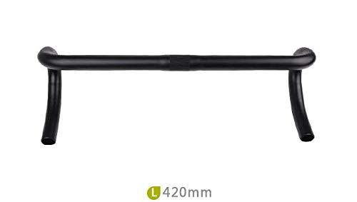 CarbonEnmy Leicht Ergo Alu Rennrad Lenker Road Race Lenker 420mm 25,4 mm schwarz 302g