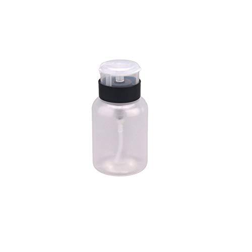 210ml Multifuktion dispensador de la bomba Limpiador BottlePush abajo Uñas líquido quitaesmalte líquidos foroils Botella para contenedores, pinturas, adhesivos y Transparente y Negro