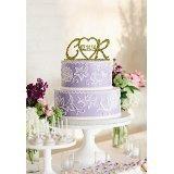 Monogram Custom Karen's Cake data Toppers-Topper per torta a forma di cuore, per ricordo - Monogram Cuore