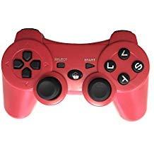 Kabelloser Bluetooth-Gamecontroller für PS3 rot