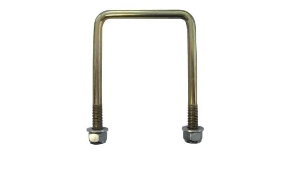 LMX2309 leisure MART U Bolt 50 mm x 76 mm high tensile with locking nuts and washers complete with fixing plate Pt no