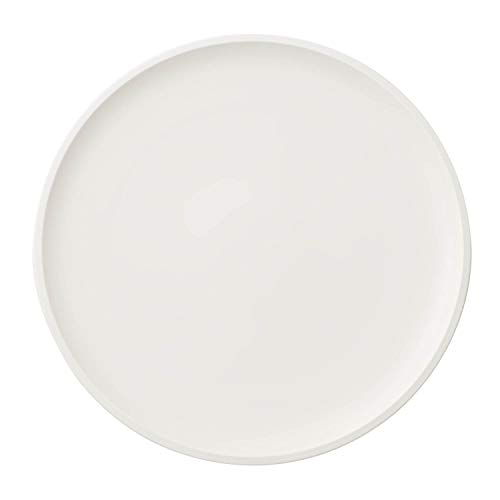 Villeroy & Boch - Artesano Original Pizza Plate, large premium porcelain plate with a raised rim in white, dishwasher safe, 32 cm
