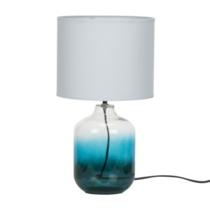 Modern Nautical Transparent Blue Glass Table Desk Lamp - Perfect