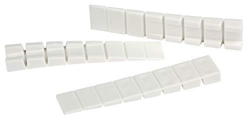 Lot de 20meubles cales/Cales/justier cales/Montage cales Blanc/7segments sécable