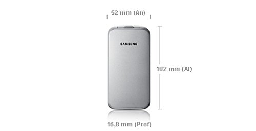 Samsung C3520 - M  vil libre  pantalla 2 4   c  mara 1 3 Mp  28 MB RAM   Plata
