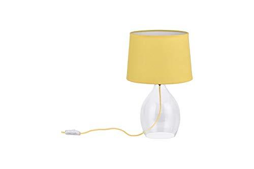 Tischleuchte Kunststoff und Glas, Gelb