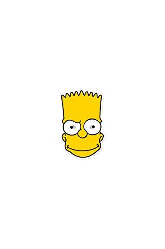 Star Cutouts Bedruckte Gesichtsmaske von Bart Simpson Maske