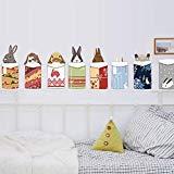 BIBITIME Tier in Verpackt Geschenk-Box Kaninchen Aufkleber Kinderzimmer Cartoon Bunny Wand Aufkleber Weihnachten Shop Ecke Familie Vorne Tür Fenster Decor