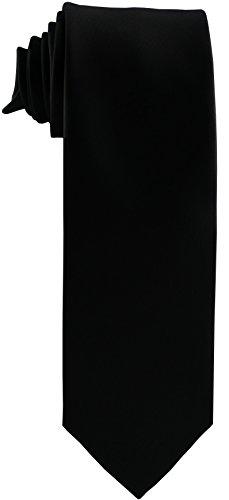ADAMANT® Trauerkrawatte ° Krawatte für Beerdigung ° Trauerkleidung Herren ° Schwarz / Einfarbig / Uni ° (Schwarze Seide Krawatte)