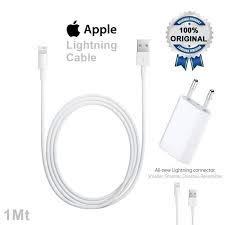 Accesorios originales de Apple, cable conector lightning MD818ZM/A (1 m) y adaptador USB MD813ZM/A A1400 (5 W)