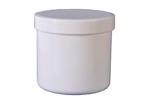 5 Salbendose Salbendosen 400 g 500 ml Deckel weiß Salbendöschen