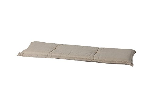 8 cm Luxus 3-Sitzer Bankauflage A 049 ca. 150x48x8 cm, uni Sand - creme - natur