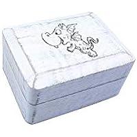 Preisvergleich für Holzbox weiß mit Drachen Gravur, 10x7,5x5,5 cm, Truhe, Aufbewahrung