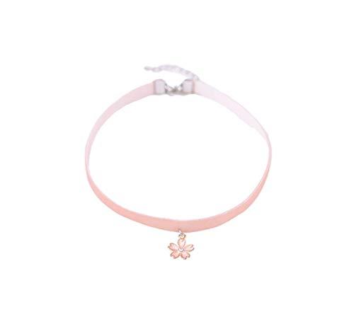 CHENYAJUAN Die Rosa Mädchen Herz Kette Cherry Halskette Halsband.