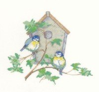 Patrimonio stitchcraft Sue Hill Collection - Nesting Box Kit per punto croce