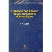 L'Analyse non linéaire et ses motivations économiques