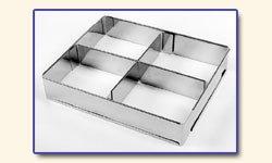 Lares Edelstahl-Backrahmen verstellbar silber Edelstahl rostfrei spülmaschinengeeignet eckig
