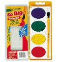 Binney & Smith Crayola(R) So Big(TM) Washable Watercolor Set, Set Of 4 Colors