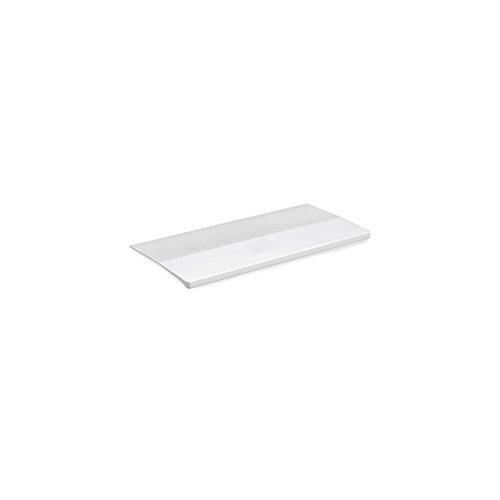Tirador adhesivo para mueble Tulip1 Emuca en aluminio acabado anodizado mate L 62 mm