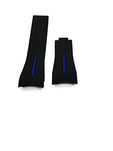 Cinturino Gomma Operativa Rubber For Rolex Strap Watch 20mm Novita' BLUE