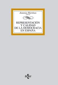Representación y calidad de la democracia en España (Derecho - Biblioteca Universitaria De Editorial Tecnos)