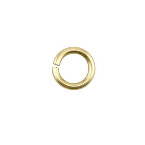 Lot de 100 anneaux en fil de fer artistique Doré clair 18 GA 3,97 mm