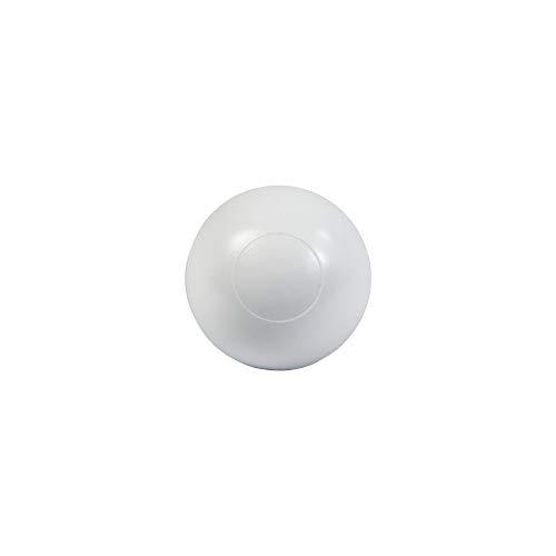 Gedotec Schutz-Kappen Wand-Türpuffer selbstklebend - HS10003 | Türstopper Ø 30 mm | Kunststoff weiß | Türdämpfer zum Schutz für die Wand - Möbel - Türgriffen & Türen | 10 Stück - Wandpuffer rund