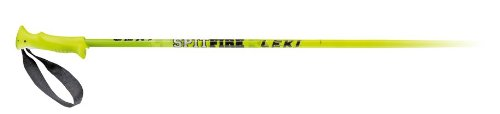 LEKI Kinder Skistock Spitfire Base Color: Neon Yellow/Design: Green-White-Black, 115 cm