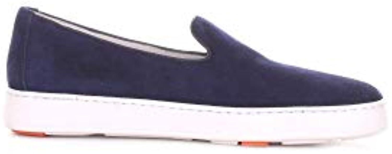 SANTONI Slip On scarpe da ginnastica Uomo MBCN20026BA6CUEEU40 Camoscio Camoscio Camoscio Blu | A Prezzo Ridotto  c8be34