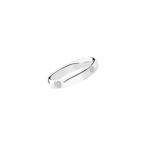 Fede Matrimoniale Polello Oro E Diamanti Kt. 0.06