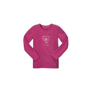 LIFE IS GOOD TODDLER CRUSHER LONGSLEEVE LOVE GROWS ON HOT FUSHIA (16860) - Sweat - Couleur: Pourpre - Dimension: 4ans