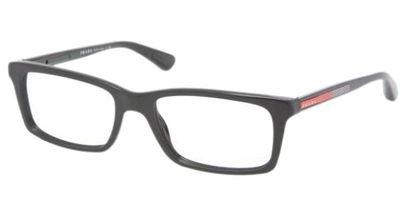 Prada Linea Rossa Men's 02c Black Frame Plastic Eyeglasses, 53mm