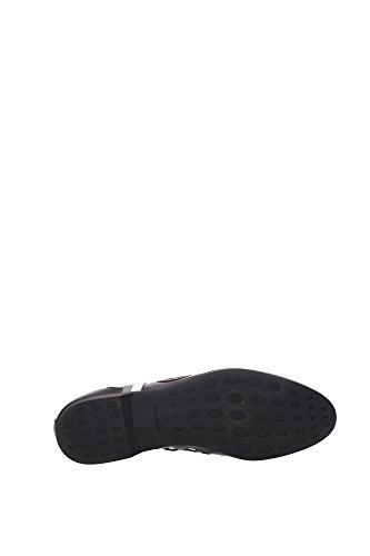 2EG163NEROACCIAIO Prada Sneakers Uomo Pelle Nero Nero
