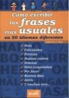 Como escribir las frases mas usuales en 20 idiomas diferentes/ How to Write The Most Used Phrases in 20 different Languages par Belisario J. Mun