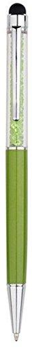 QUALITÄT 2-in-1 Kapazitiver Touchscreen-Stylus und Kugelschreiber mit Swarovski-Kristallen. GRATIS-KULI-MINE (LIMETTE)