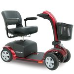 Pride Mobility Victory 10 Pride 4 Wheel Electric Mobility Scooter Sc710 Red + Free Accessories