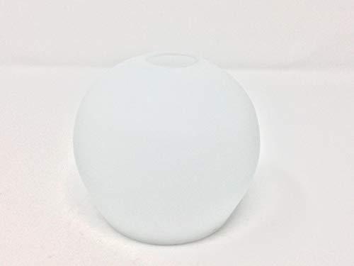 Glas Lampenschirm Ersatzglas weiß E14 Lochmaß Fassung ø 30mm