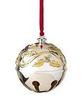 Lenox Silver Plate 2008 Annual Sleighbell Christmas Ornament Sleigh Bell by Lenox