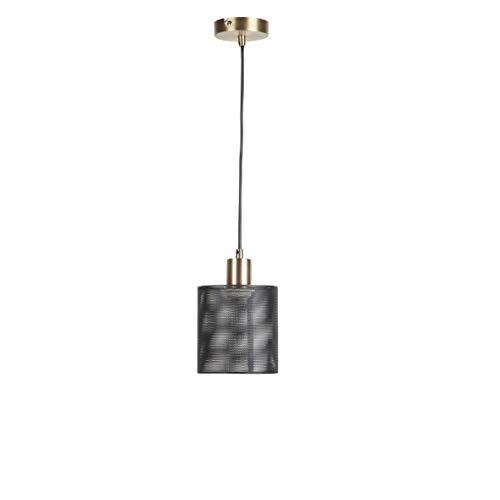 Mathias Hängeleuchte, Metall, 40 W, Schwarz, D14 H20,2