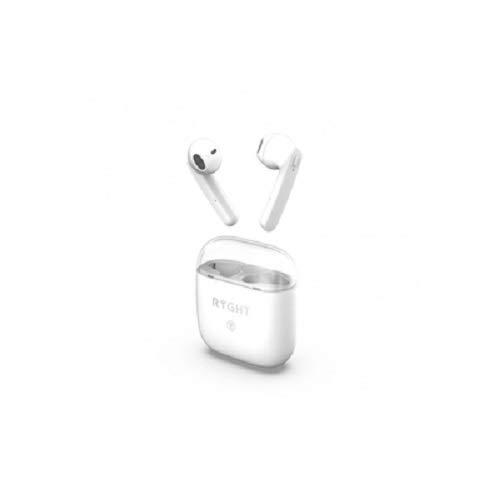 Ryght Dyplo Ecouteurs sans Fil Bluetooth, Kit Mains-Libres, Appel en Stéréo, Boitier de Recharge Autonome, Batterie Longue Durée 4h+20h, Compatible avec PC/Mac/Smartphone/Tablette - Blanc