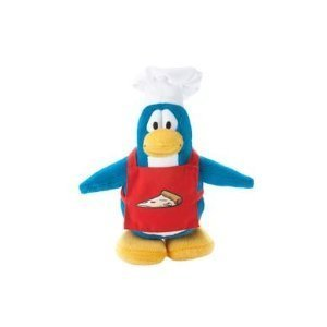 Disney Club Penguin 6.5 Inch Plush Figure Pizza Chef Series 14 Includes Coin with Code! by Jakks Pacific