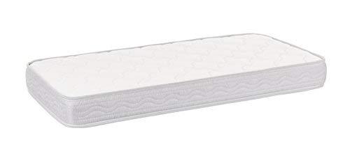 SLEEPAA Colchón de cuna 120x60 cm Espuma acolchada Transpirable Descanso bebé Altura 10 cm Fabricado en España Confort