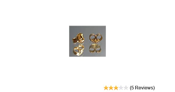 afd09058f 18CT GOLD HALLMARKED REPLACEMENT EARRING BACKS BUTTERFLIES 5MM:  Amazon.co.uk: Kitchen & Home