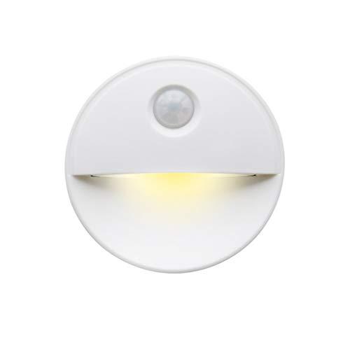 ToDIDAF LED Nachtlicht mit Bewegungsmelder Batteriebetrieben Smart-Lampe Stick Anywhere Schranklicht Augenschutz Innenbeleuchtung für Flur Wohnzimmer Schlafzimmer Kinderzimmer Bad (1PC, Warmes Gelb)