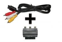 Scart 3-Cinch Videokabel Scartkabel + Adapter f. Super Nintendo Nintendo 64 SNES N64 Game Cube - RBrothersTechnologie