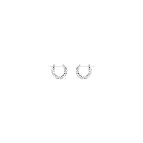 Swarovski orecchini stone, cristallo bianco, rodiati, da donna